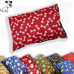 Pack of 2 DOG BED Filled Pillows | Washable Cover ~ SIZES: Medium, Large & X-Large | 6