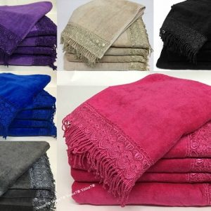 NEW 100% Egyptian Cotton TASSEL 5pc TOWEL BALE SET | 500GSM ~ 6 Colors | 2