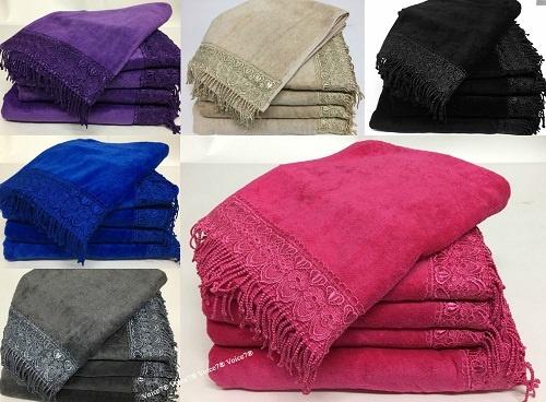 NEW 100% Egyptian Cotton TASSEL 5pc TOWEL BALE SET | 500GSM ~ 6 Colors | 1