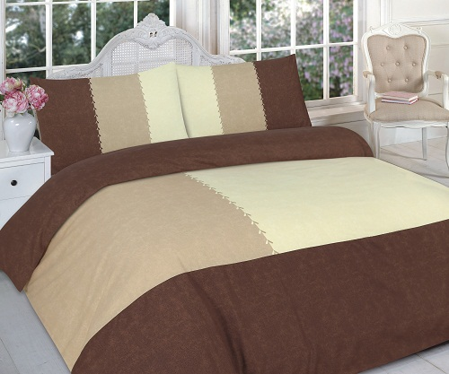 "Decent Duvet Cover Set ""SUEDE PATCH"" with PillowCases 