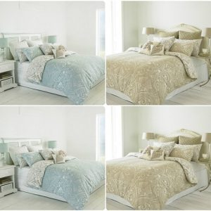 CHATSWOTH Heritage Duvet Cover Set & Pillowcases ~ Reversible DAMASK Scroll Design 4