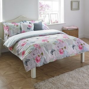Luxury Cotton T80 ROSEBERY Butterfly Duvet Cover Set with PillowCases ~ Super 180 Thread Counts PERCALE Quality 2