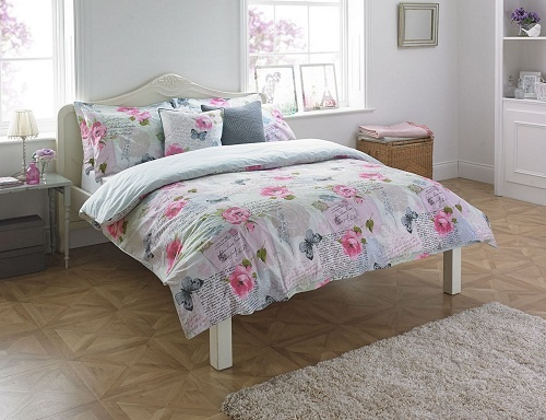 Luxury Cotton T80 ROSEBERY Butterfly Duvet Cover Set with PillowCases ~ Super 180 Thread Counts PERCALE Quality 1