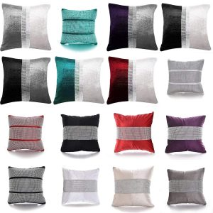 Magic DIAMANTE Two Tone Fancy Cushions Covers Only - Home Sofa Bed Car Decorative Cushions 4