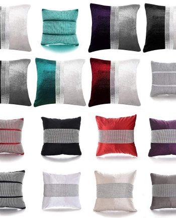 Magic DIAMANTE Two Tone Fancy Cushions Covers Only – Home Sofa Bed Car Decorative Cushions 81K3lQMJhQL