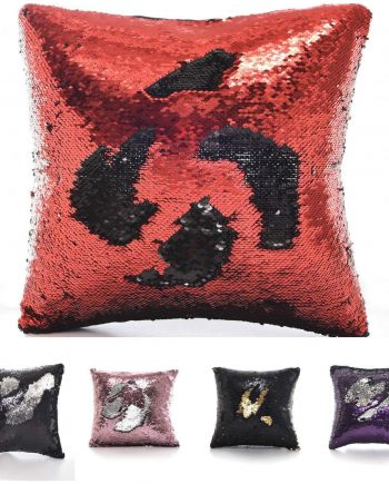 Reversible Mermaid Glitter Sequin CUSHION / COVER Size 41cm x 41cm 81i6pak49BL