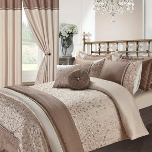 Voice 7 Soft Elegant Design Embroidery Bedding Bedroom Collection UK Sizes 10