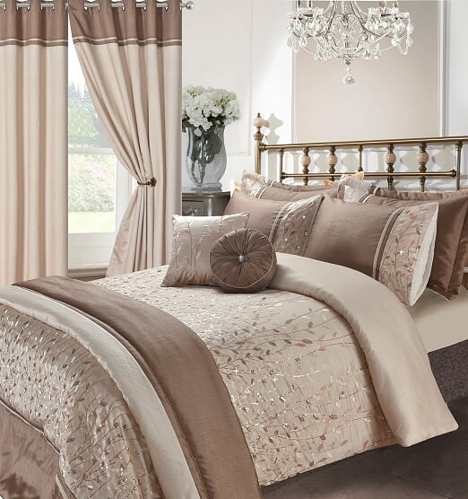 Voice 7 Soft Elegant Design Embroidery Bedding Bedroom Collection UK Sizes 1