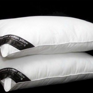 Voice 7 Luxury Pair of Egyptian Cotton Pillows Filled With Pure Hollow Fibre Filling for Relaxation 10