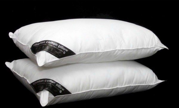 Voice 7 Luxury Pair of Egyptian Cotton Pillows Filled With Pure Hollow Fibre Filling for Relaxation 1
