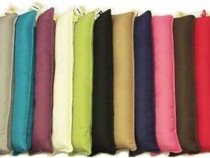 Plain PolyCotton Fabric Draught Stopper Cushions 2