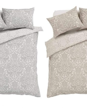 Voice 7 Traditional Chantilly Reversible Duvet Set with One Pillow Case Floral Design Printed Linen Quilt Cover Bedding Sets 813CtYFiFSL