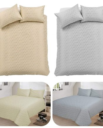 voice 7 Decent Hampton Two-Shade Jacquard Duvet Cover Set With Two Pillow Cases Cotton Rich Quilt Cover Bedding Sets 81KwFTETVcL