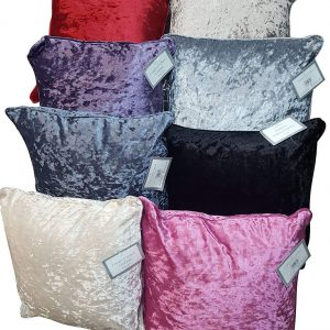 Voice 7 Luxury Crushed Velvet Cushion Filled with Pure Polyester Car Sofa Bed Armchair Complete Cushions Plus Covers 10