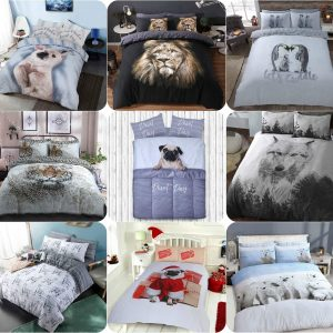 Voice7 Drama Llama Duvet Cover + Matching Pillow Cases - Animal Reversible Quilt Covers Bedding Set Poly Cotton All UK Size 2