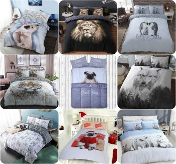 Voice7 Drama Llama Duvet Cover + Matching Pillow Cases - Animal Reversible Quilt Covers Bedding Set Poly Cotton All UK Size 4
