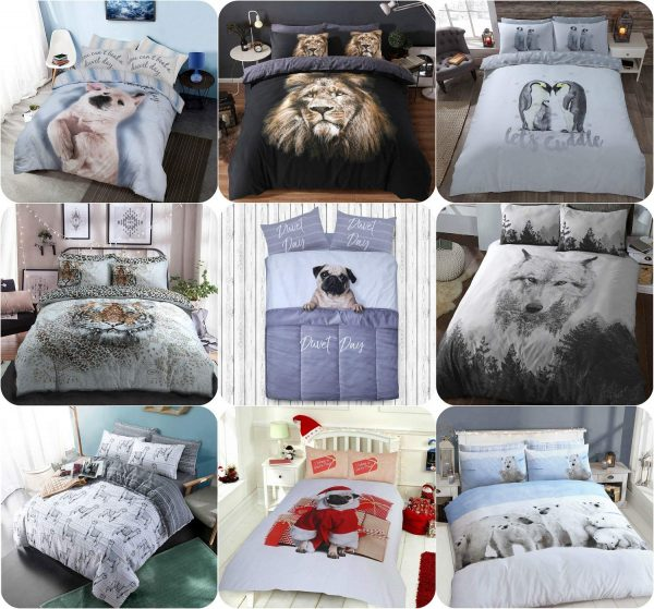 Voice7 Drama Llama Duvet Cover + Matching Pillow Cases - Animal Reversible Quilt Covers Bedding Set Poly Cotton All UK Size 1